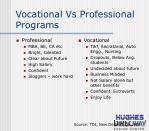 vocational vs professional programs