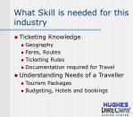 what skill is needed for this industry