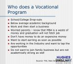 who does a vocational program