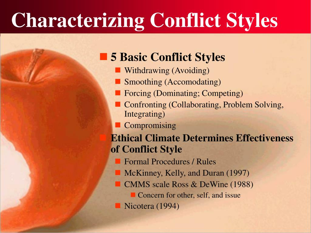 Characterizing Conflict Styles