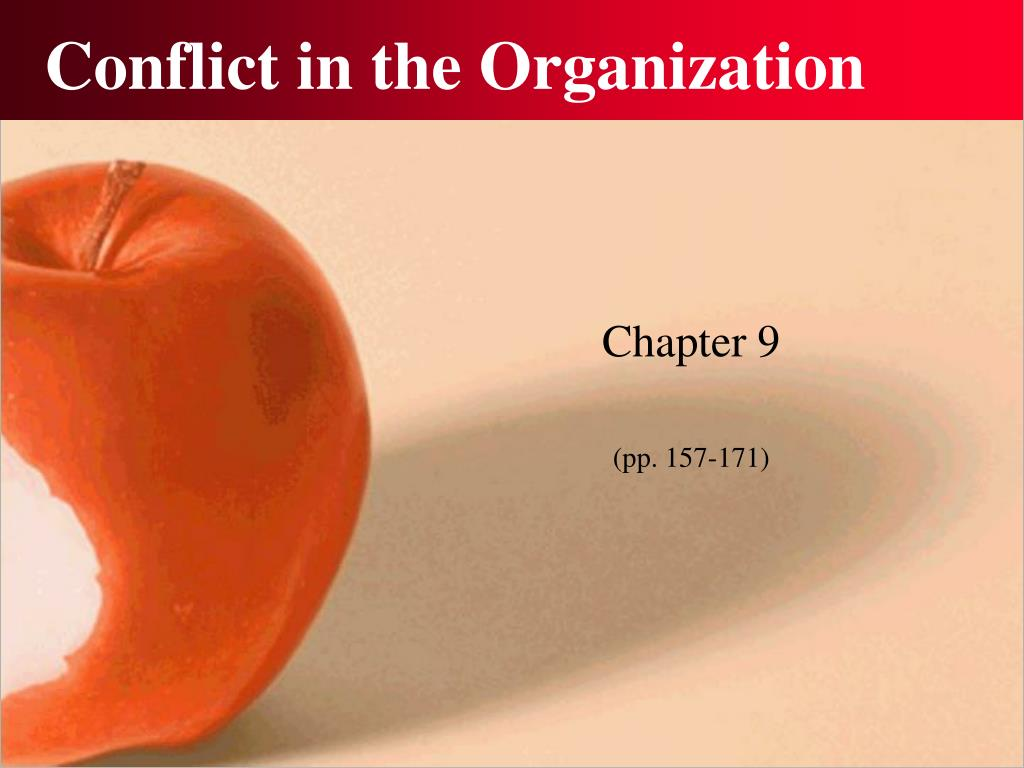 Conflict in the Organization