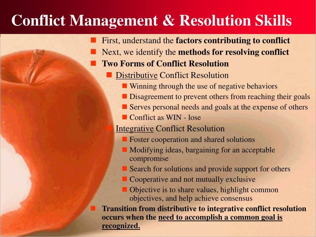 Conflict Management & Resolution Skills