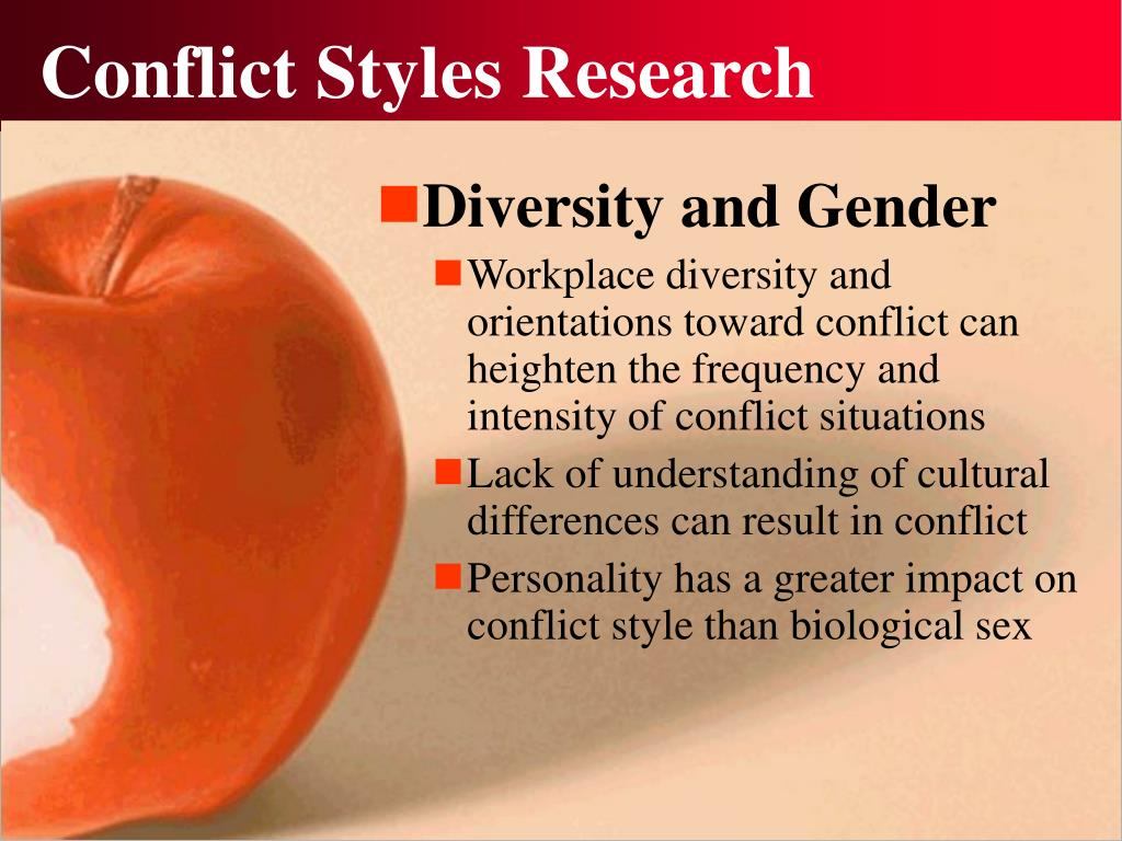 Conflict Styles Research