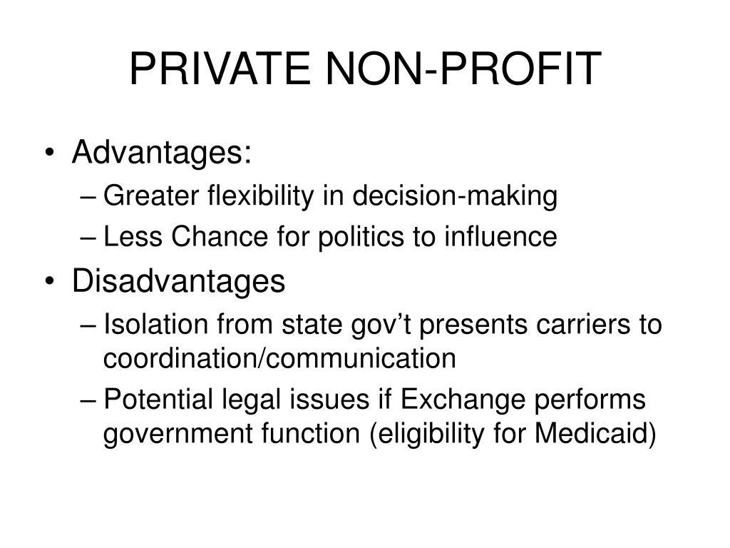 PRIVATE NON-PROFIT