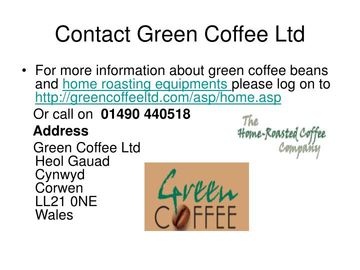 Contact green coffee ltd