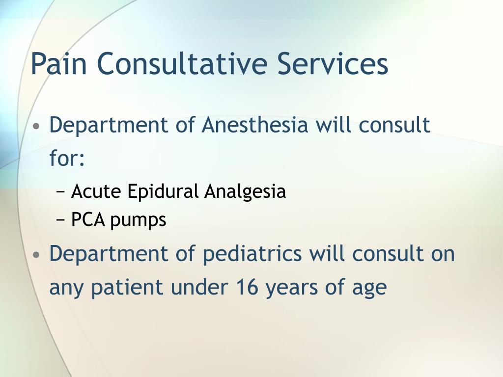 Pain Consultative Services