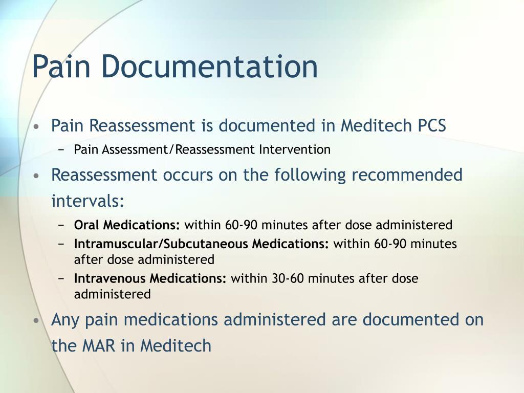 Pain Documentation