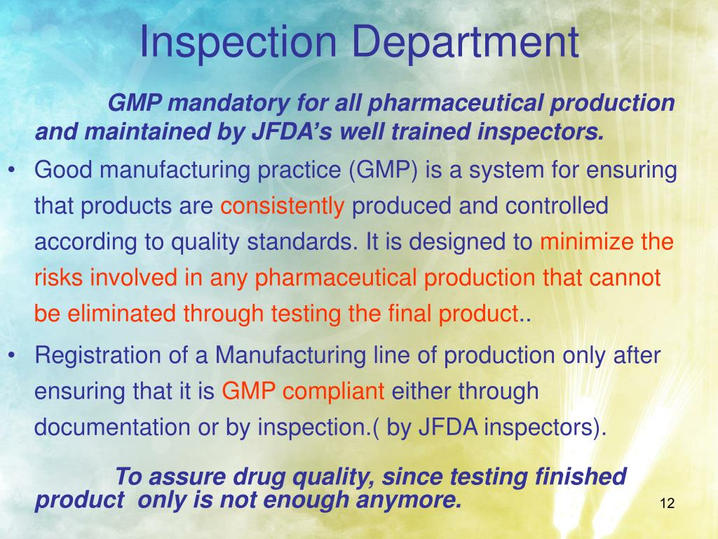 Inspection Department