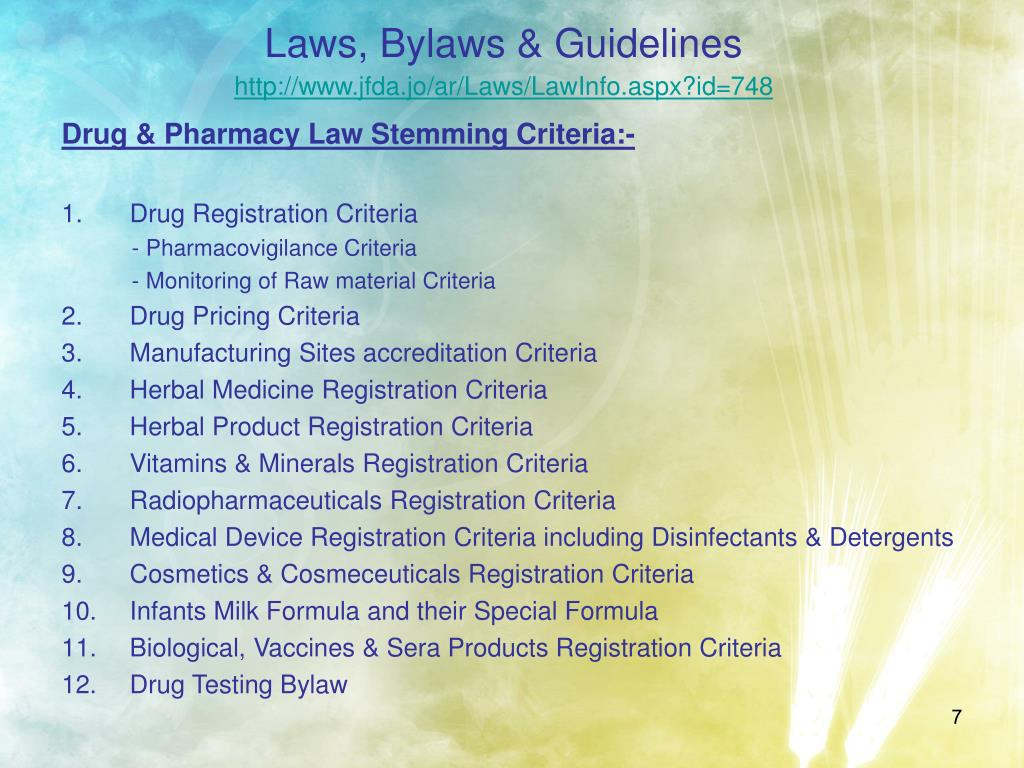 Laws, Bylaws & Guidelines