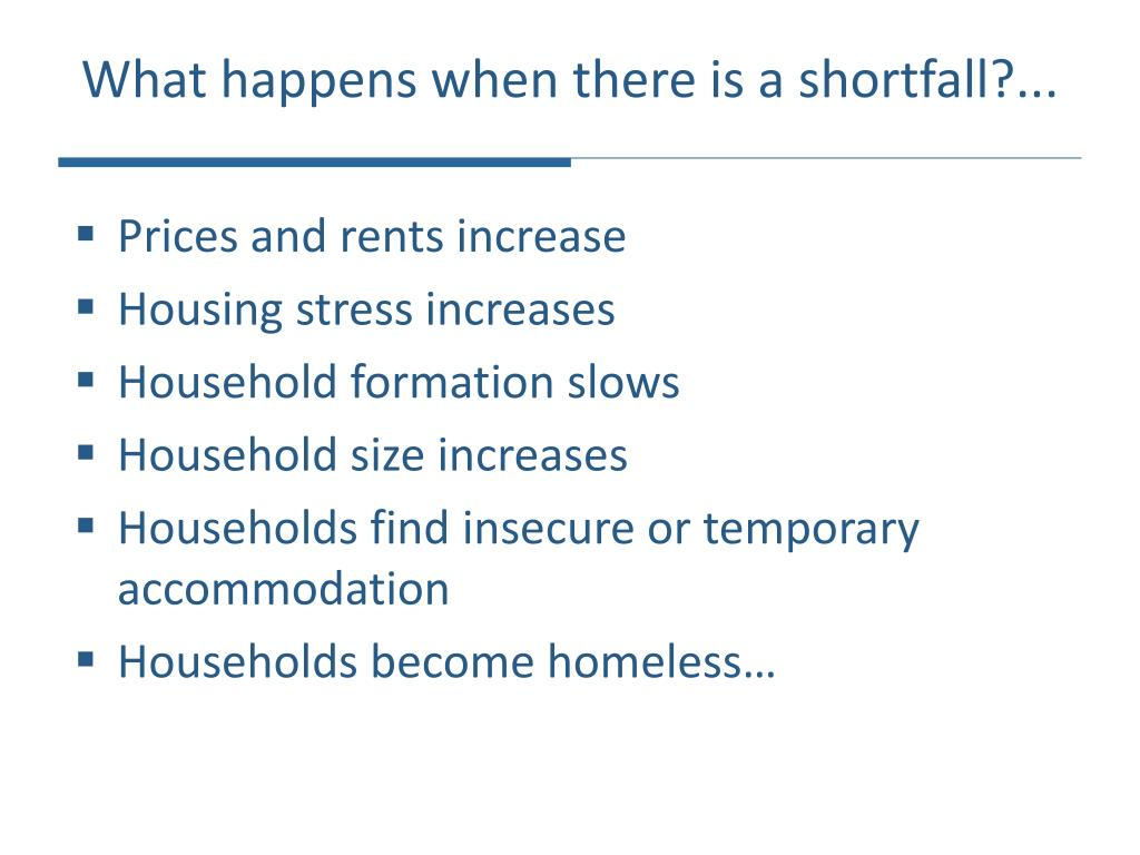 What happens when there is a shortfall?...