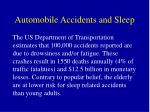 automobile accidents and sleep