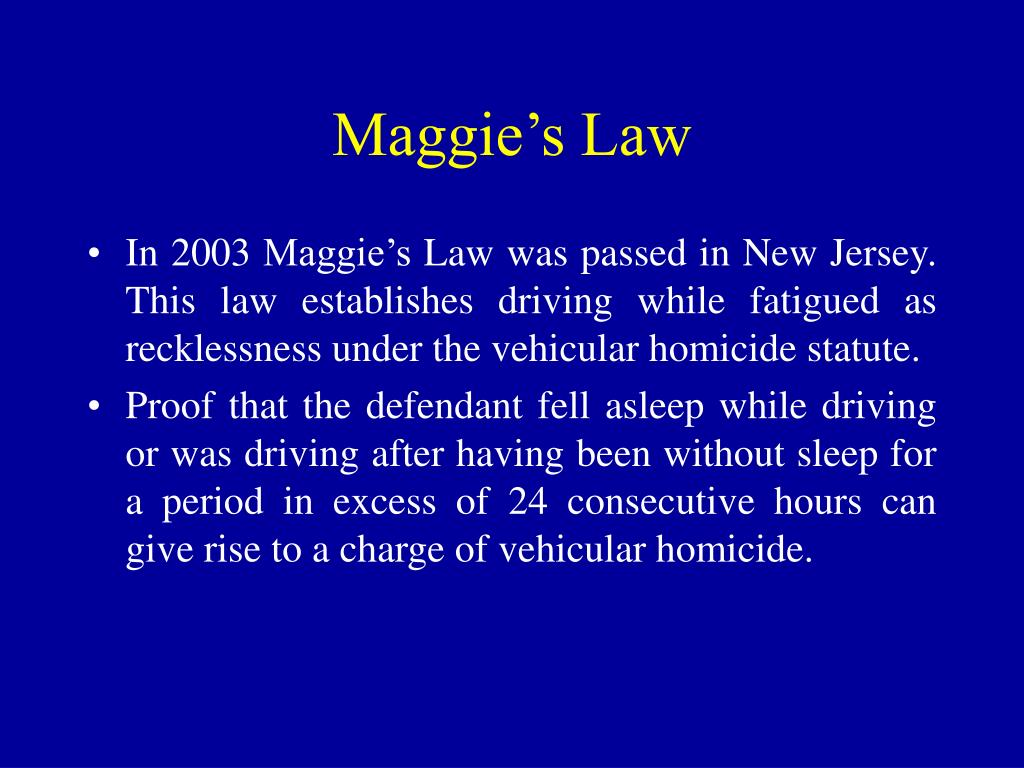 Maggie's Law