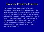 sleep and cognitive function
