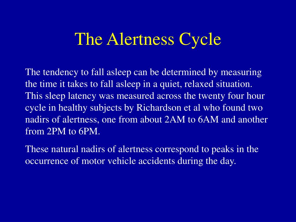 The Alertness Cycle