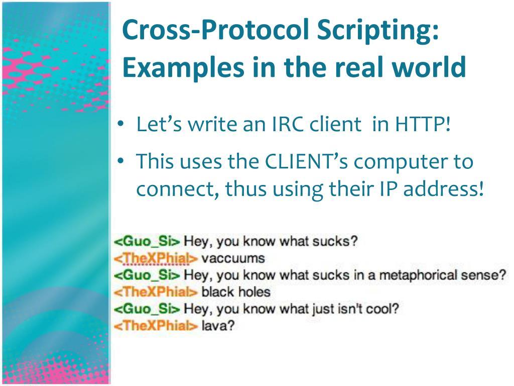 Cross-Protocol Scripting:
