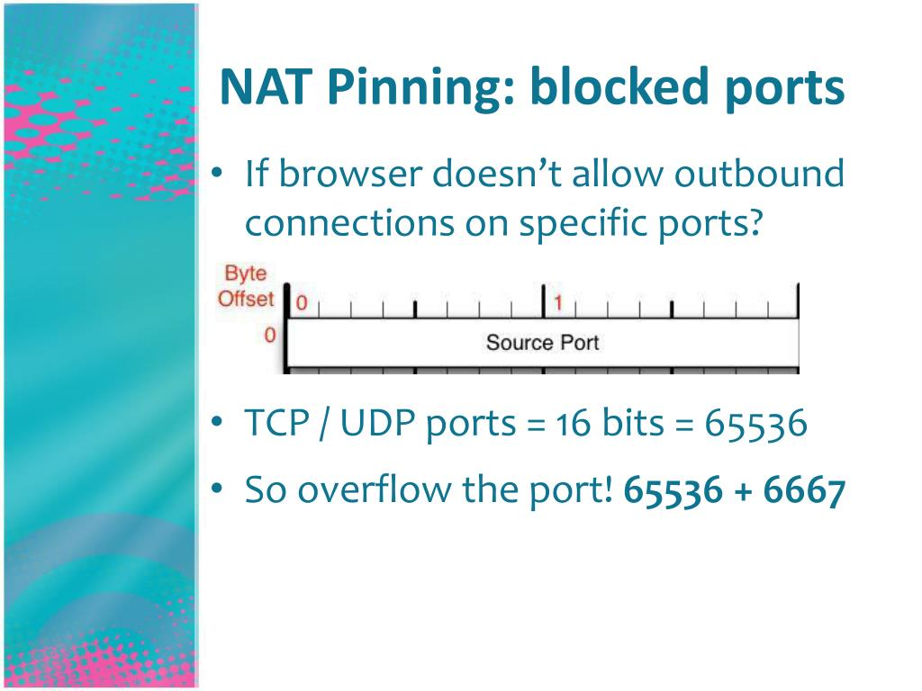 NAT Pinning: blocked ports