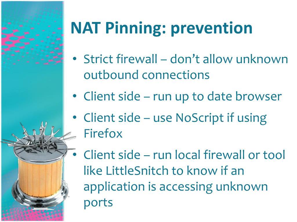 NAT Pinning: prevention