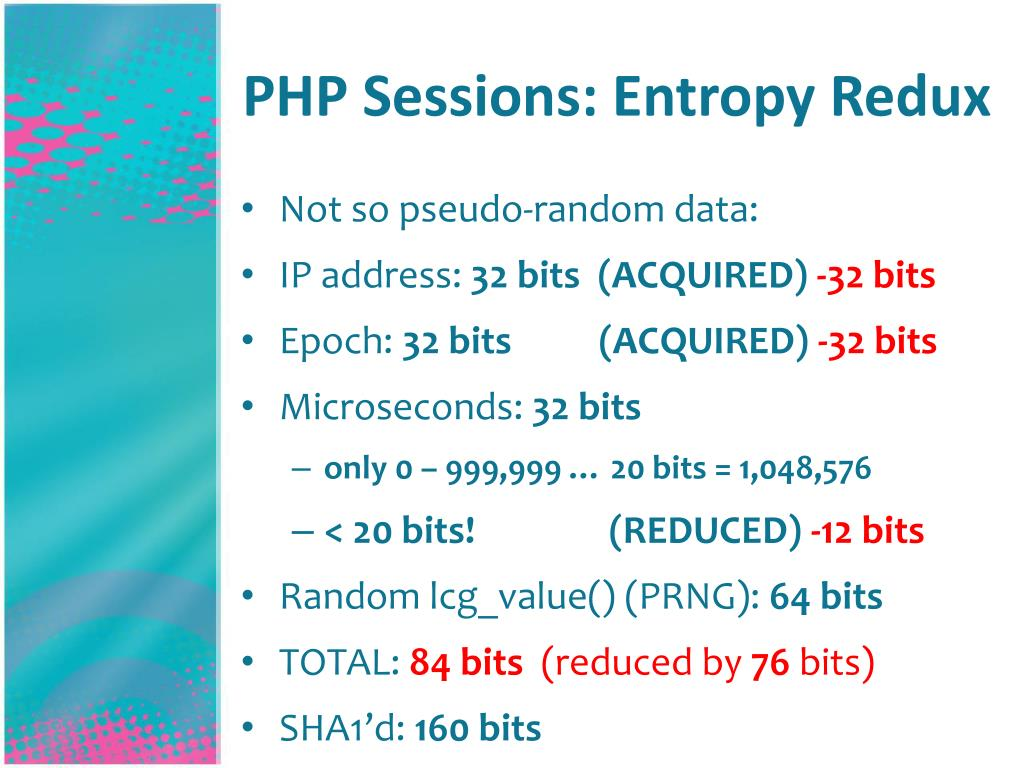 PHP Sessions: Entropy Redux