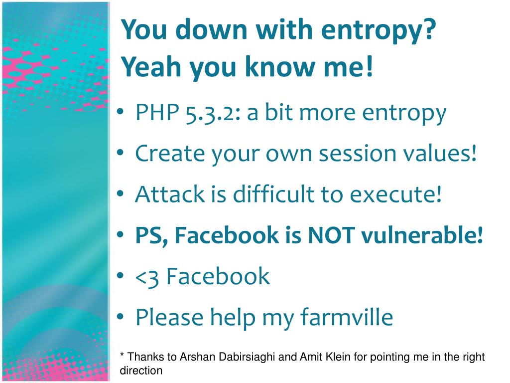 You down with entropy?