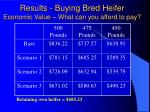 results buying bred heifer economic value what can you afford to pay
