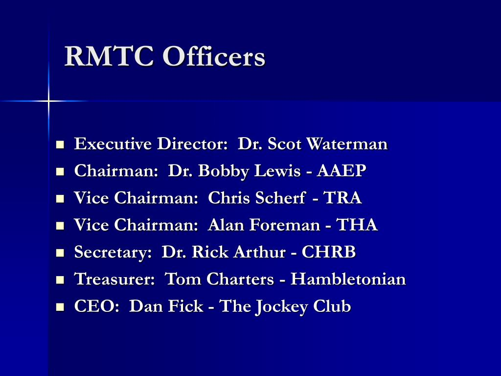 RMTC Officers