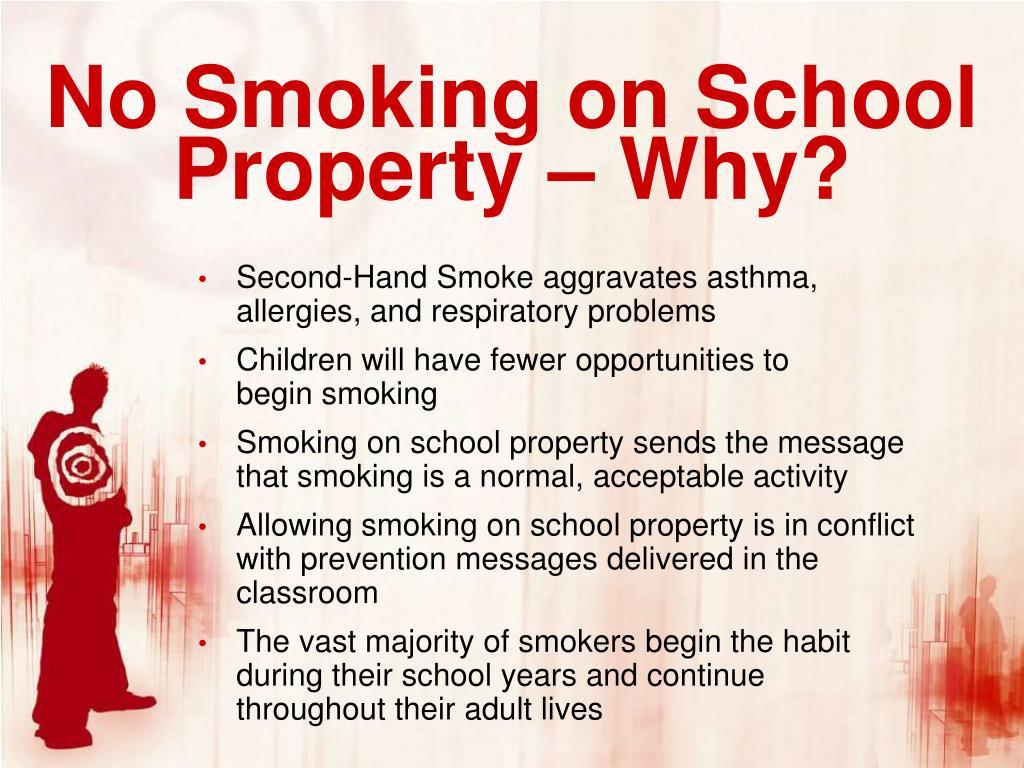 No Smoking on School Property – Why?