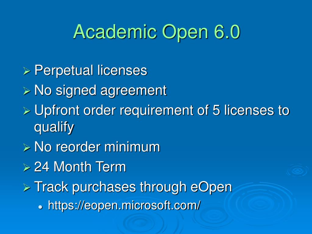 Academic Open 6.0