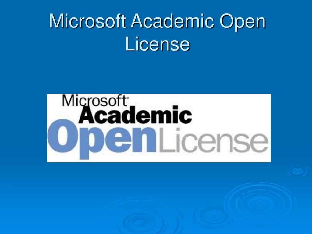 Microsoft Academic Open License