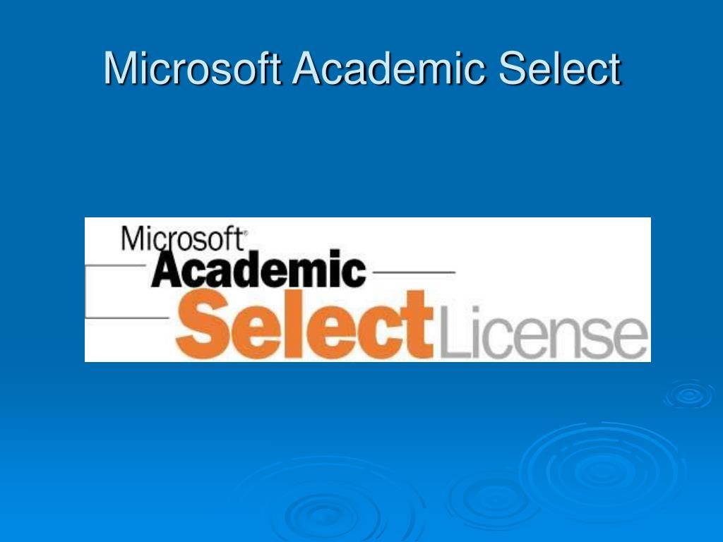Microsoft Academic Select