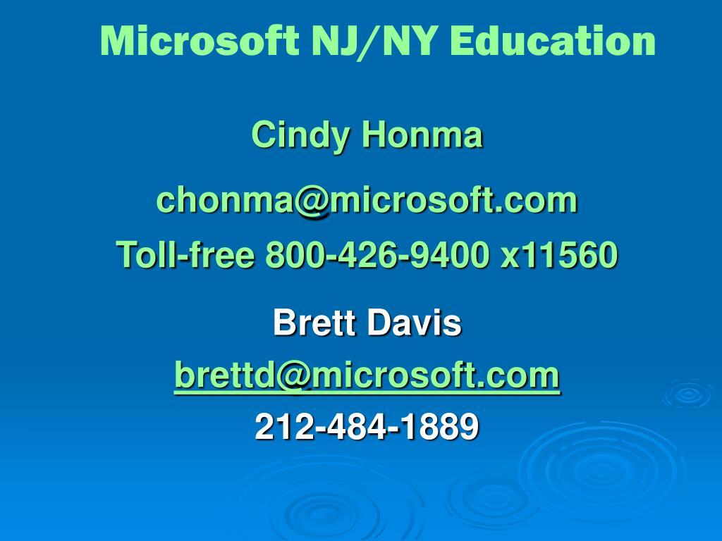 Microsoft NJ/NY Education
