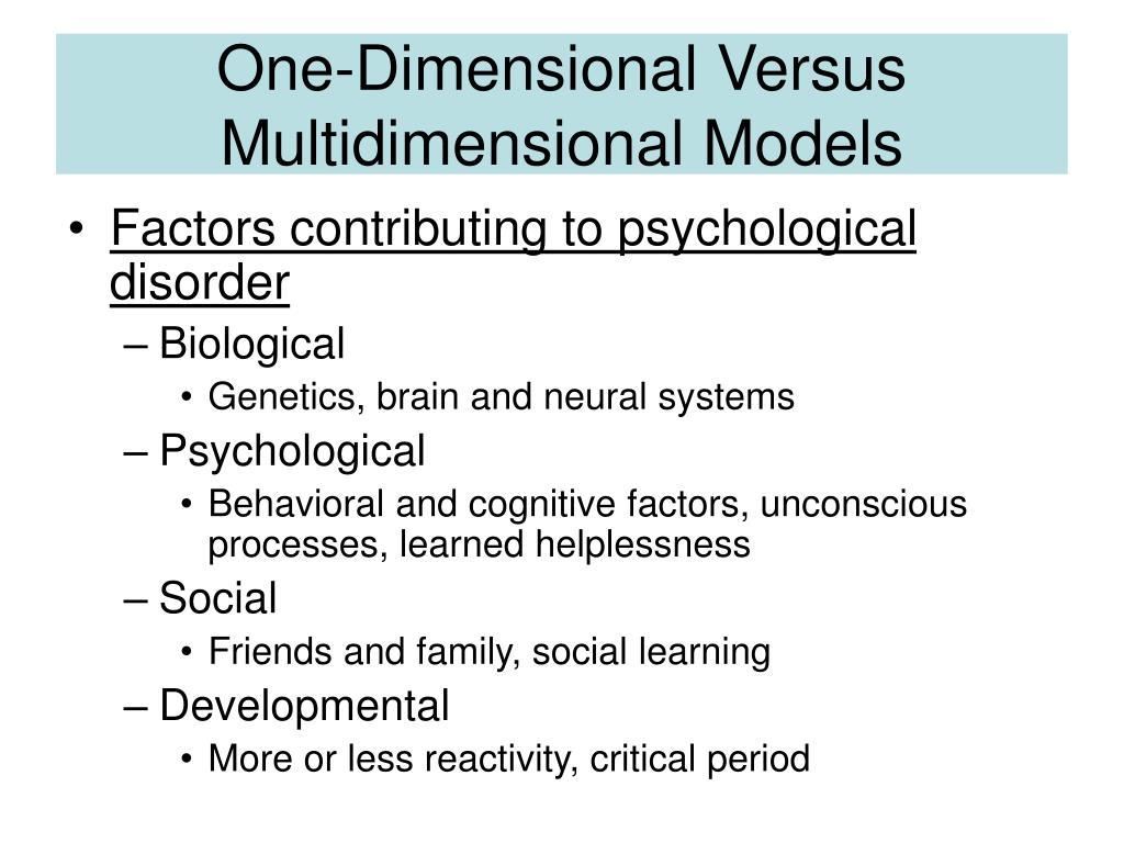 Biological and cognitive psychology presentation outline