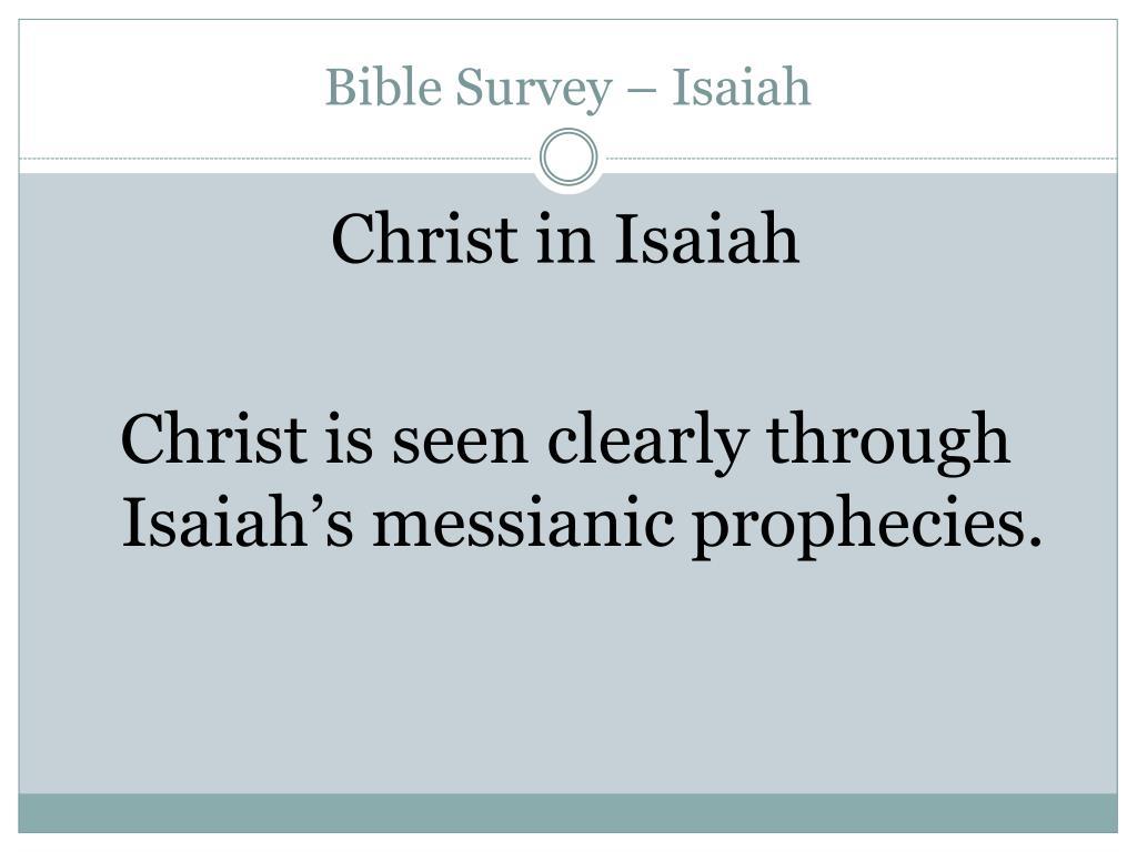 Bible Survey – Isaiah