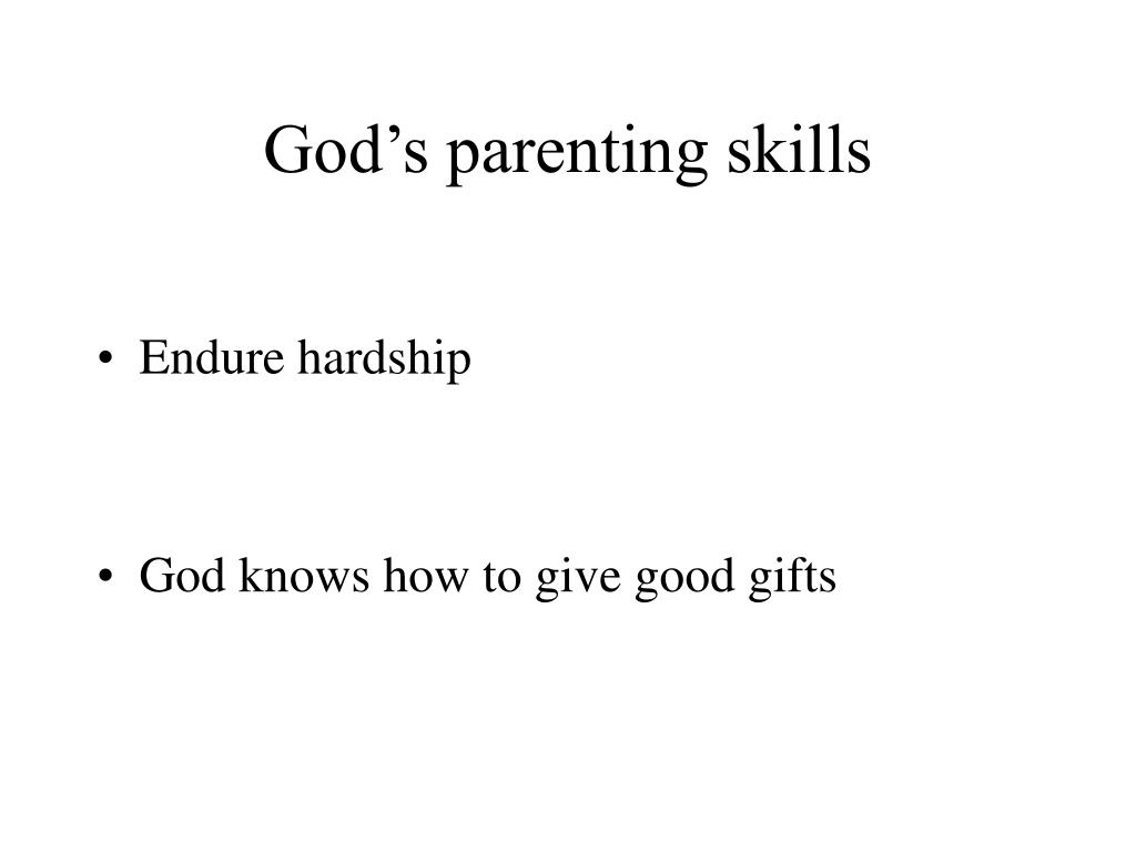 God's parenting skills