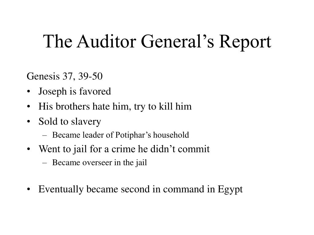 The Auditor General's Report