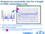 analysis by nucleotidic site for a length of 2000 nucleotides 1 2