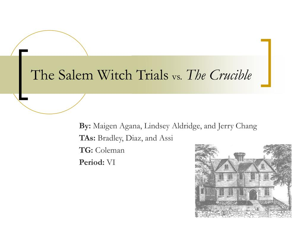 crucible powerpoint Need an informational introduction to the crucible this 12 slide powerpoint gives students an idea of the actual people behind the characters, as well as a look into the construction of the jury.