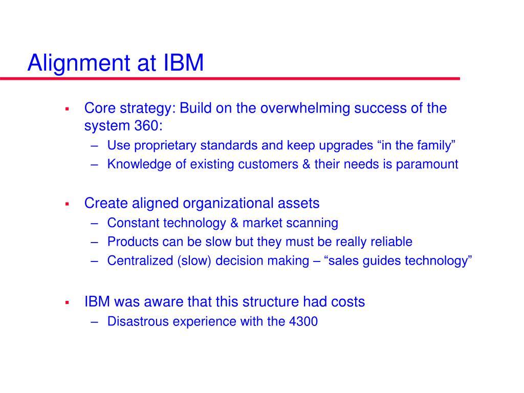 Alignment at IBM