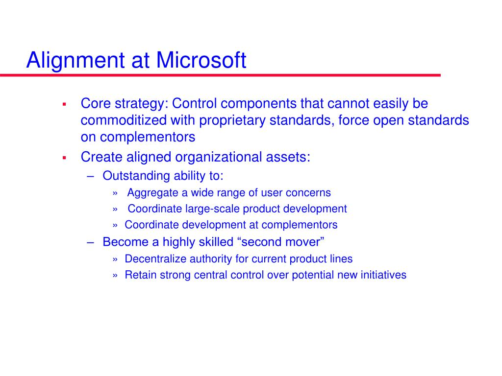 Alignment at Microsoft