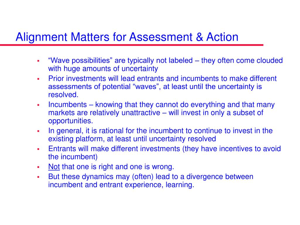 Alignment Matters for Assessment & Action