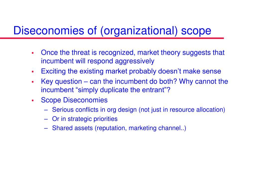 Diseconomies of (organizational) scope