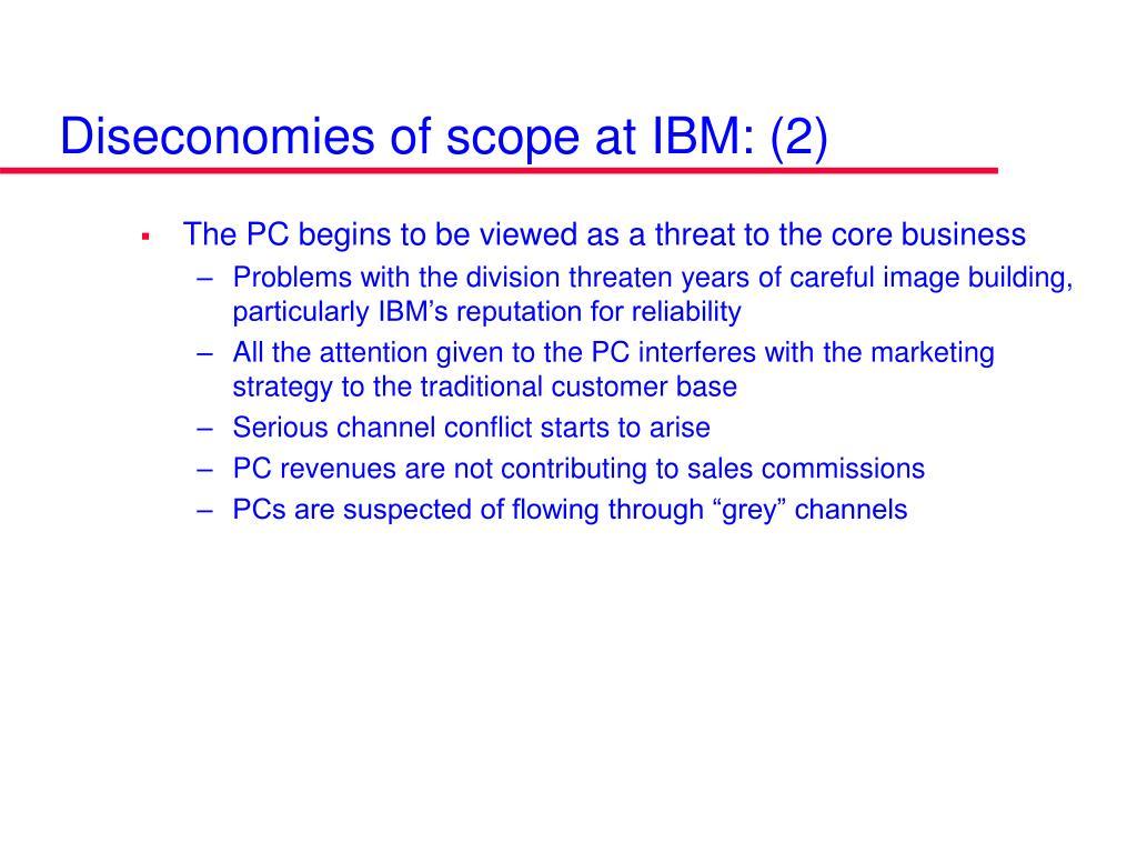 Diseconomies of scope at IBM: (2)
