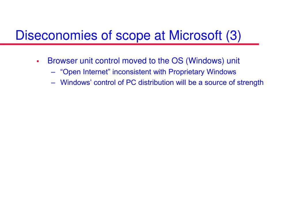 Diseconomies of scope at Microsoft (3)