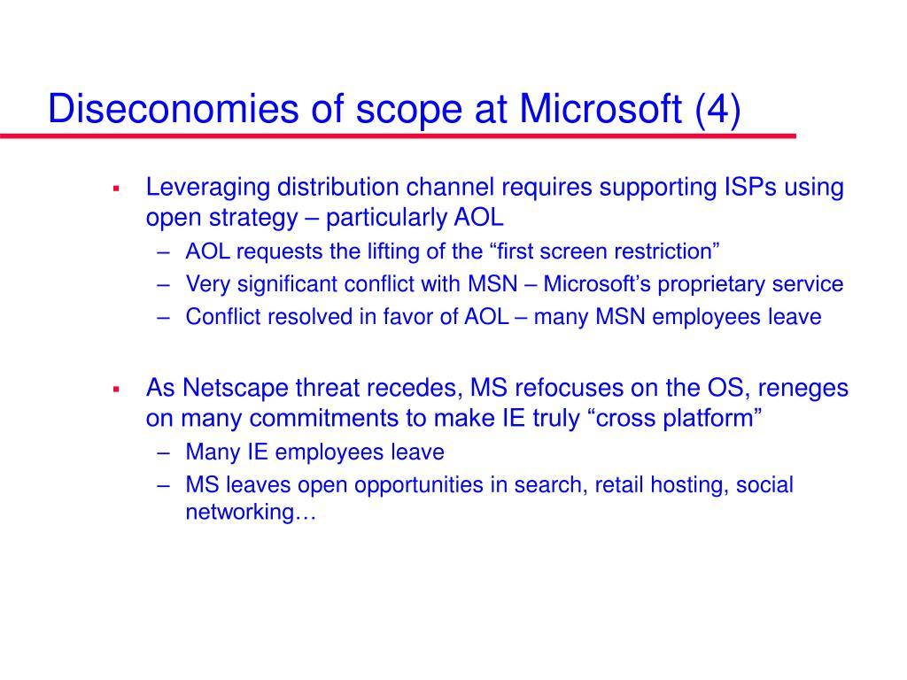 Diseconomies of scope at Microsoft (4)