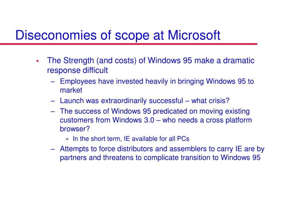 Diseconomies of scope at Microsoft