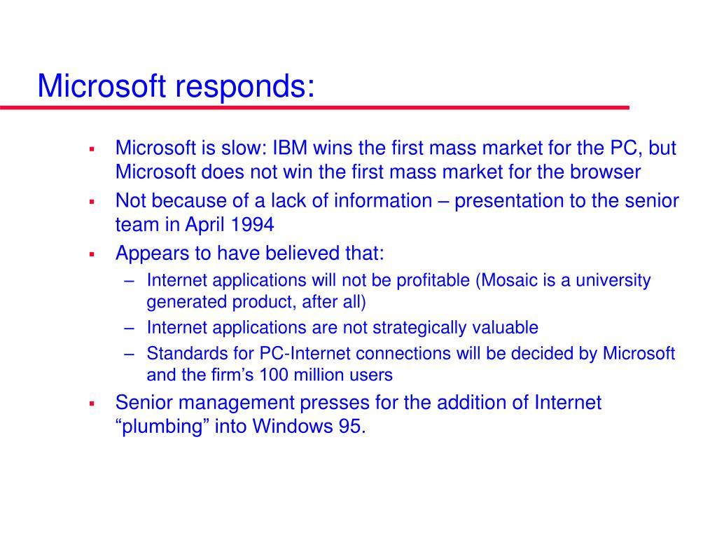 Microsoft responds: