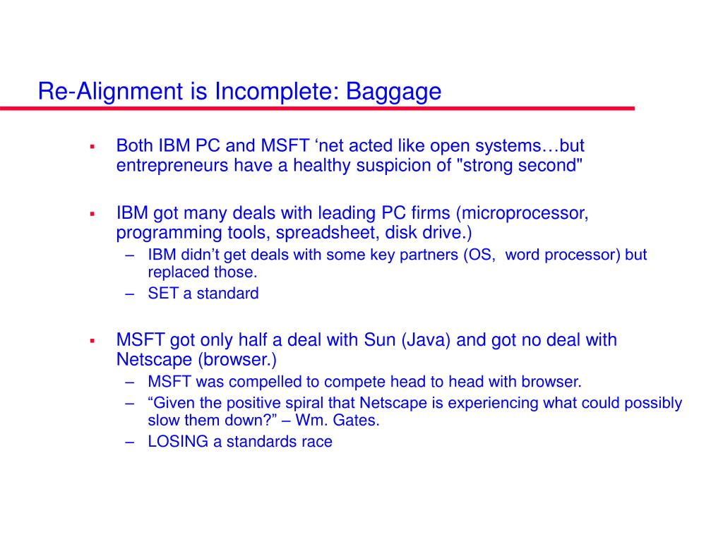 Re-Alignment is Incomplete: Baggage