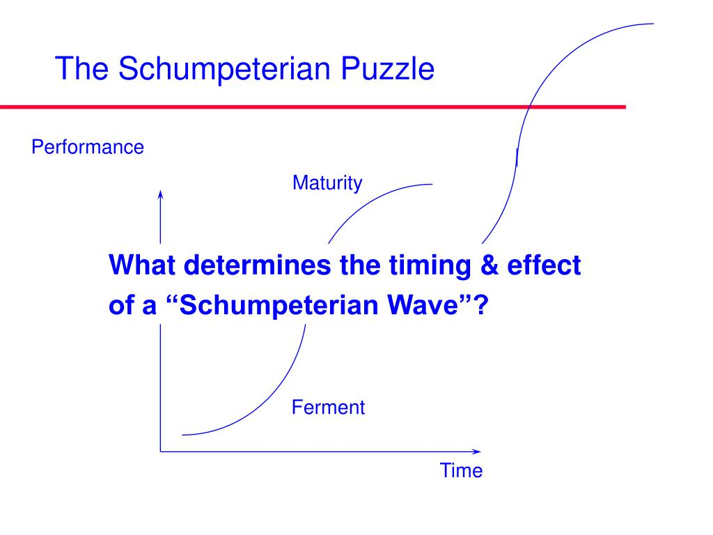 The Schumpeterian Puzzle