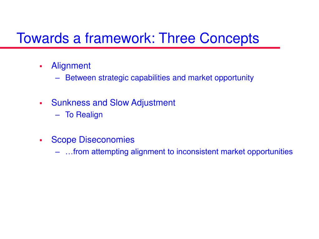 Towards a framework: Three Concepts