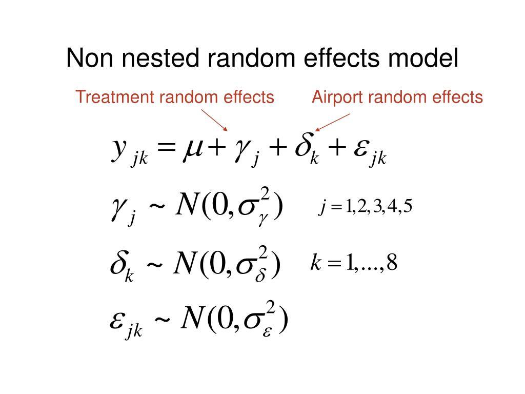 Non nested random effects model