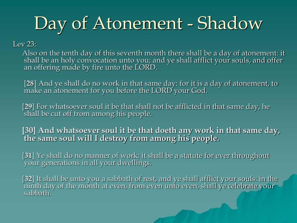 Day of Atonement - Shadow